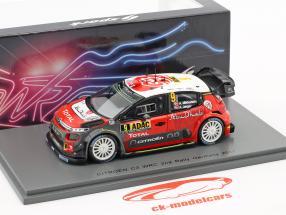 Citroen C3 WRC #9 2nd Rallye Germany 2017 Mikkelsen, Jaeger 1:43 Spark