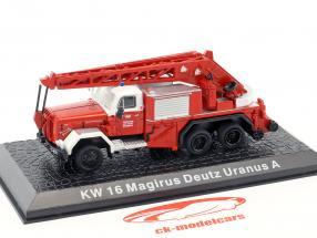Magirus Deutz Uranus A KW 16 vigili del fuoco Innsbruck rosso 1:72 Altaya