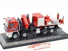Mercedes-Benz Actros 4141K 8x6/4 WLF fire Department Augsburg red 1:72 Altaya