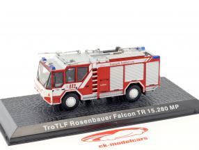 Rosenbauer Falcon TR 15.280 MP TroTLF pompiers Frankfurt rouge / blanc 1:72 Altaya