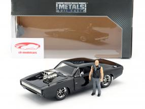 Dom's Dodge Charger R/T 1970 film Fast & Furious (2001) met figuur 1:24 Jada Toys