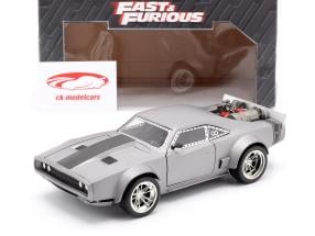 Dom's Ice Dodge Charger R/T Fast and Furious 8 银 1:24 Jada Toys