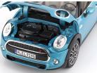Mini Cooper S Cabriolet (F57) year 2016 blue metallic 1:18 Norev