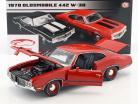 Oldsmobile 442 W-30 year 1970 matador red 1:18 GMP
