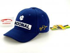 Ayrton Senna Driver Cap Nacional blue