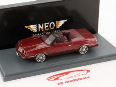 Dodge 600 Convertible Year 1984 red 1:43 Neo