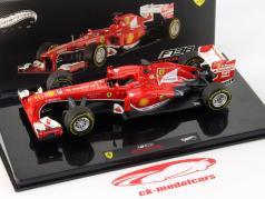 F. Alonso Ferrari F138 Gagnant Chinois GP Formule 1 2013 1:43 HotWheels Elite