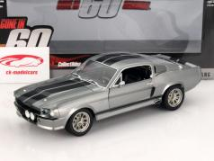 Ford Shelby Mustang Eleanor Baujahr 1967 grau metallic / schwarz 1:18 Greenlight