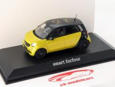 Smart forfour W453 yellow metallic / black 1:43 Norev