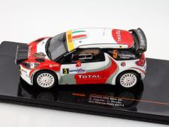 Citroen DS3 WRC #5 3rd Monza Rally 2011 Capello / Pirollo 1:43 Ixo