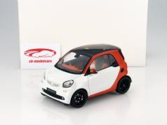 Smart fortwo Coupe (C453) orange / white 1:18 Norev
