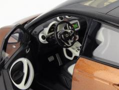 Smart forfour Coupe (W453) black / brown 1:18 Norev