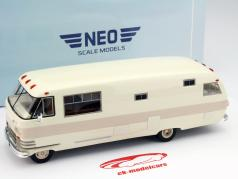 Dodge Travco year 1963 White / light-brown 1:43 Neo
