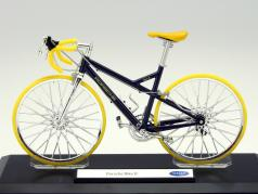 Bicycle Porsche Bike R blue metallic / yellow 1:10 Welly