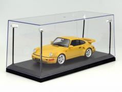 Single showcase with 4 mobile LED lamps for model cars in scale 1:18 Triple9