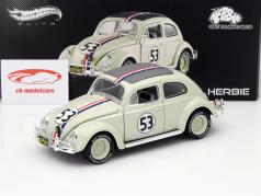 Volkswagen VW Beetle #53 Herbie goes to Monte Carlo 1977 1:18 HotWheels Elite