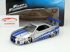 Nissan Skyline GT-R (R34) out the Movie 2 Fast 2 Furious 2003 1:24 Jada Toys