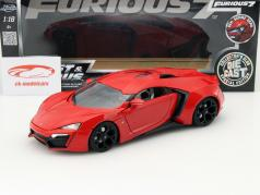 Lykan Hypersport out the Movie Fast and Furious 7 2015 red 1:18 Jada Toys