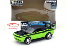 Letty's Dodge Challenger SRT8 Pre-Painted Kit Fast and Furious 7 2015 green 1:24 Jada Toys