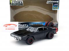 Dom's Dodge Charger R/T Offroad Pre-Painted Kit Fast and Furious 7 2015 black 1:24 Jada Toys