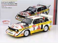 Audi Sport Quattro S1 #5 Gagnant Rallye San Remo 1985 Röhrl, Geistdörfer 1:12 OttOmobile