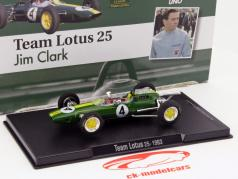 Jim Clark Lotus 25 #4 World Champion formula 1 1963 1:43 Altaya