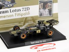 Emerson Fittipaldi Lotus 72D #8 world champion formula 1 1972 1:43 Altaya