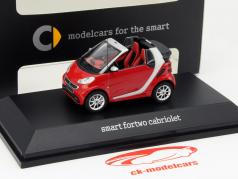Smart Fortwo Cabriolet red / silver / black 1:43 Spark