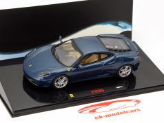 Ferrari F430 Baujahr 2004 blau 1:43 HotWheels Elite