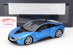 BMW i8 (i12) Year 2014 blue metallic 1:18 ParagonModels