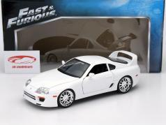 Brian's Toyota Supra Fast and Furious white 1:18 Jada Toys
