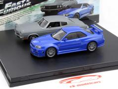 2-Car ensemble Chevrolet Chevelle SS et Nissan Skyline GT-R Fast and Furious 1:43 Greenlight