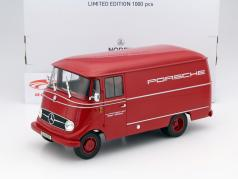 Mercedes-Benz L319 Porsche racing service Year 1955 red 1:18 Norev