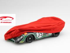 Car cover red for modelcars in scale 1:18