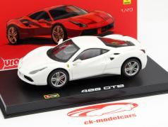 Ferrari 488 GTB white 1:43 Bburago Signature