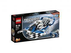 LEGO® Technic Hydroglisseur bateau coureur #68 blanc / bleu