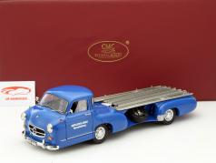 Mercedes-Benz racing transporter blue wonder Year 1955 blue 1:18 CMC