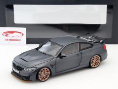 BMW M4 F82 GTS Year 2016 mat gray / orange 1:18 Minichamps