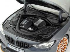 BMW M4 F82 GTS Anno 2016 stuoia grigio / arancia 1:18 Minichamps