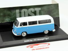 Volkswagen VW Type 2 bus out of the TV series Lost 2004-10 blue / white 1:43 Greenlight