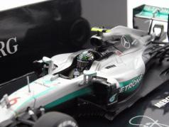 Nico Rosberg Mercedes AMG F1 W07 #6 formula 1 campione del mondo 2016 1:43 Minichamps