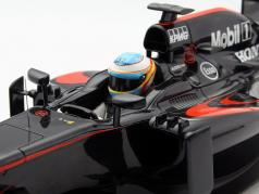 Fernando Alonso McLaren MP4-30 #14 GP Испания формула 1 2015 1:18 AUTOart