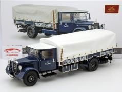 Mercedes-Benz LKW racing transporter LO 2750 Year 1934-38 blue 1:18 CMC