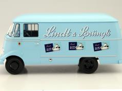 Mercedes-Benz L319 Lindt and Sprüngli Year 1957 light blue 1:18 Norev