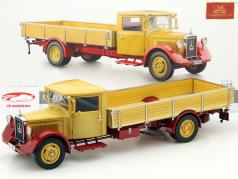 Mercedes-Benz LO 2750 platform truck Year 1934-38 yellow / red 1:18 CMC