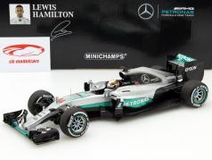 Lewis Hamilton Mercedes F1 W07 Hybrid #44 2nd Australien GP F1 2016 1:18 Minichamps