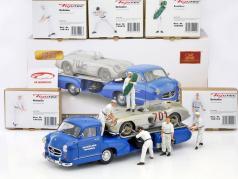 "Set: 5x Figutec characters   Mercedes Benz ""blue Wonder"" mit MB 300 SLR #701 Dirty Hero 1:18 CMC"