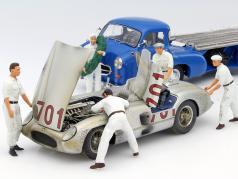 "Set: 5x Figutec chiffres   Mercedes-Benz « bleu miracle "" mit MB 300 SLR #701 Dirty Hero 1:18 CMC"