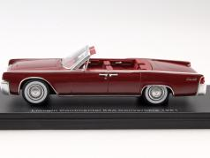 Lincoln Continental 53A Convertible year 1961 dark red 1:43 Neo