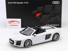 Audi R8 Spyder V10 suzuka gray 1:18 iScale